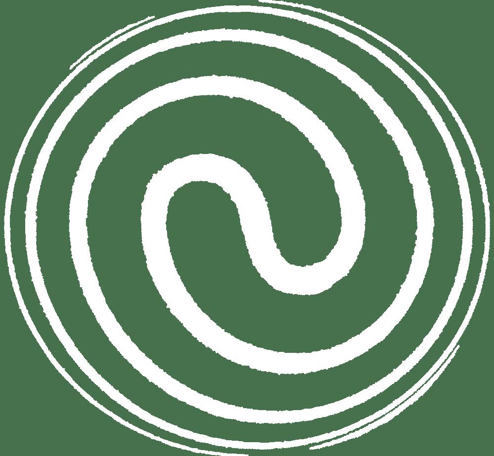 Manifestieren_Bild Doppelspirale weiß