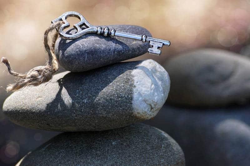 Geistige Unruhe transformieren bild steine